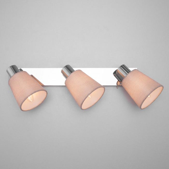 220080/3 хром/бежевый Настенный светильник с выключателем Евросвет
