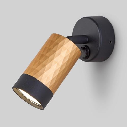 20088/1 черный/золото Настенный светильник с выключателем ЕВРОСВЕТ