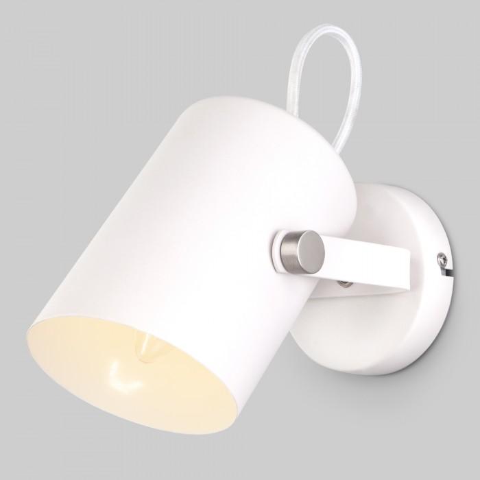 1Настенный светильник с поворотным плафоном Eurosvet 20093/1 белый/сатин-никель