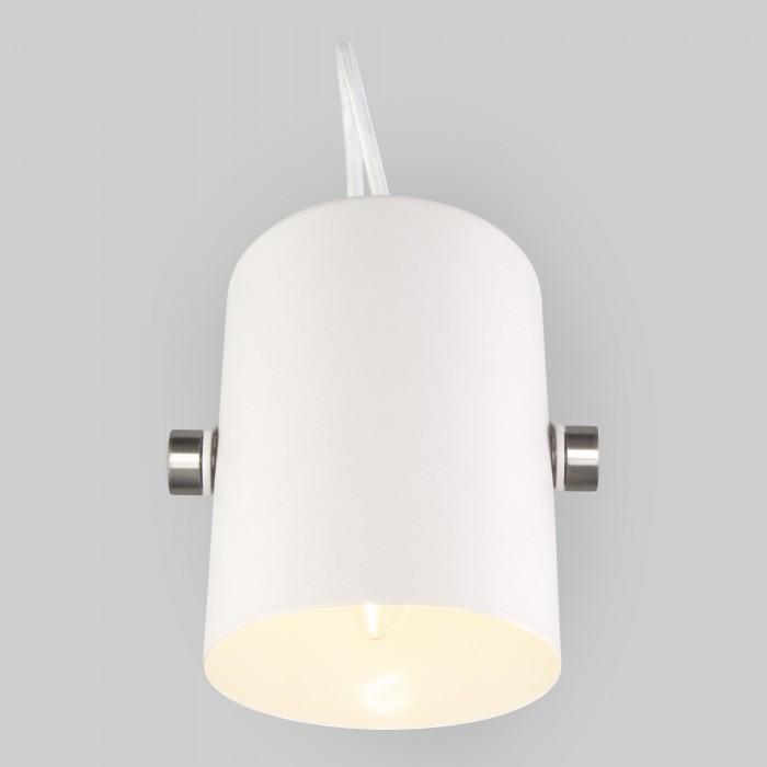 2Настенный светильник с поворотным плафоном Eurosvet 20093/1 белый/сатин-никель