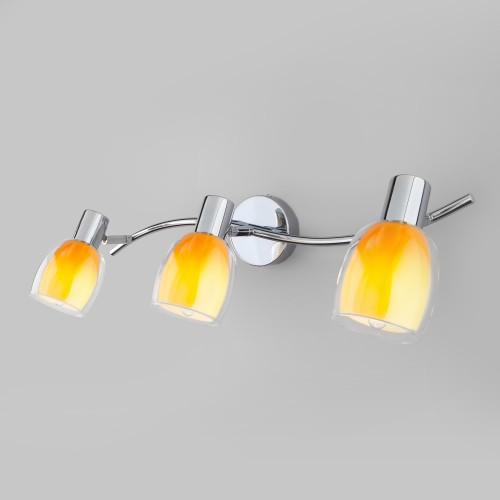 20119/3 желтый Настенный светильник со стеклянными плафонами ЕВРОСВЕТ
