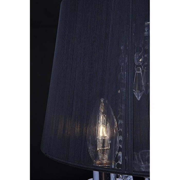 2Торшер с абажуром 2045/3F хром/черный Eurosvet