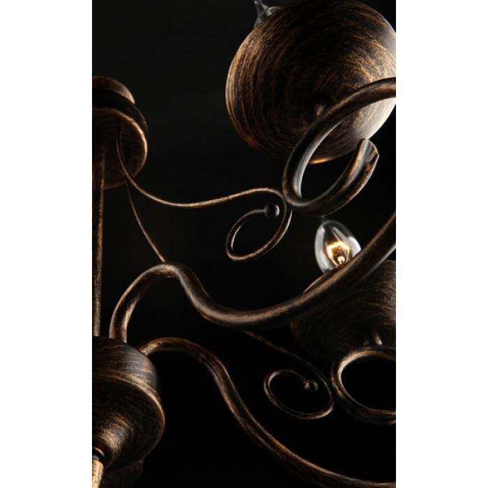 2Классическая люстра 22404/5 черный с золотом Eurosvet