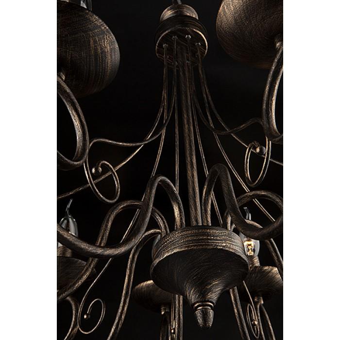 2Классическая люстра 22404/8 черный с золотом Eurosvet