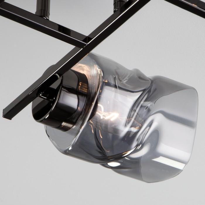 2Потолочная люстра со стеклянными плафонами 30165/4 черный жемчуг EVROSVET