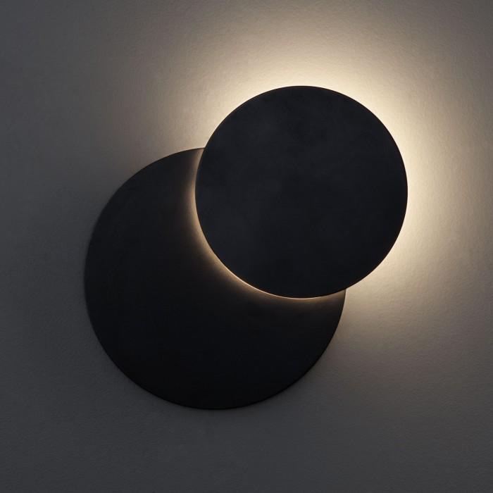 1Настенный светодиодный светильник 40135/1 черный Евросвет