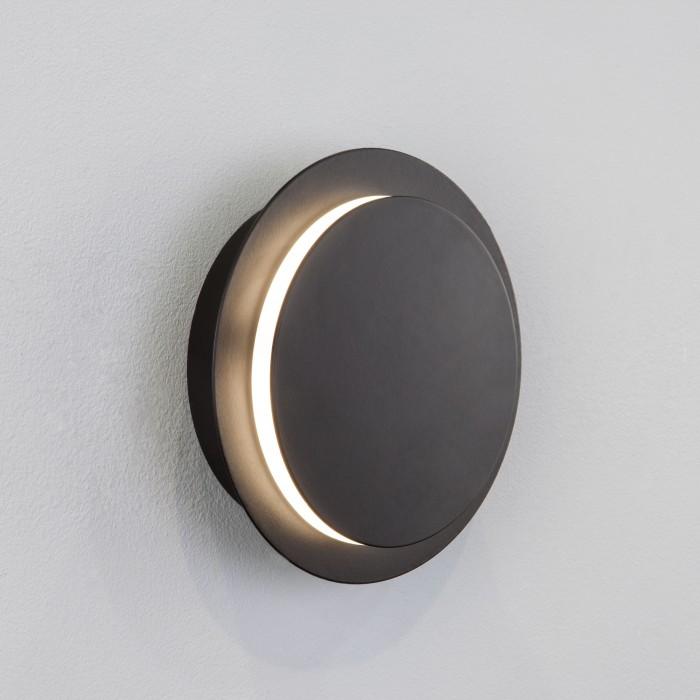 2Настенный светодиодный светильник 40135/1 черный Евросвет