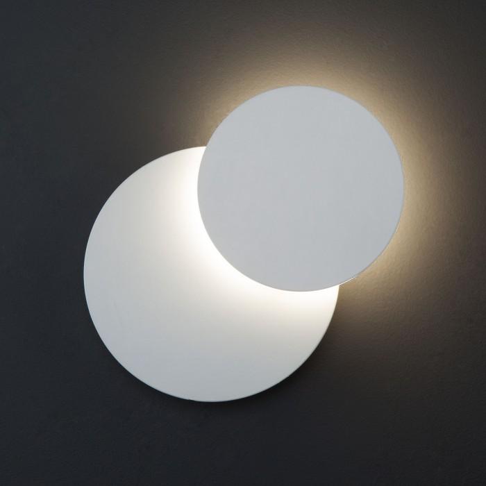 1Настенный светодиодный светильник 40135/1 белый Евросвет