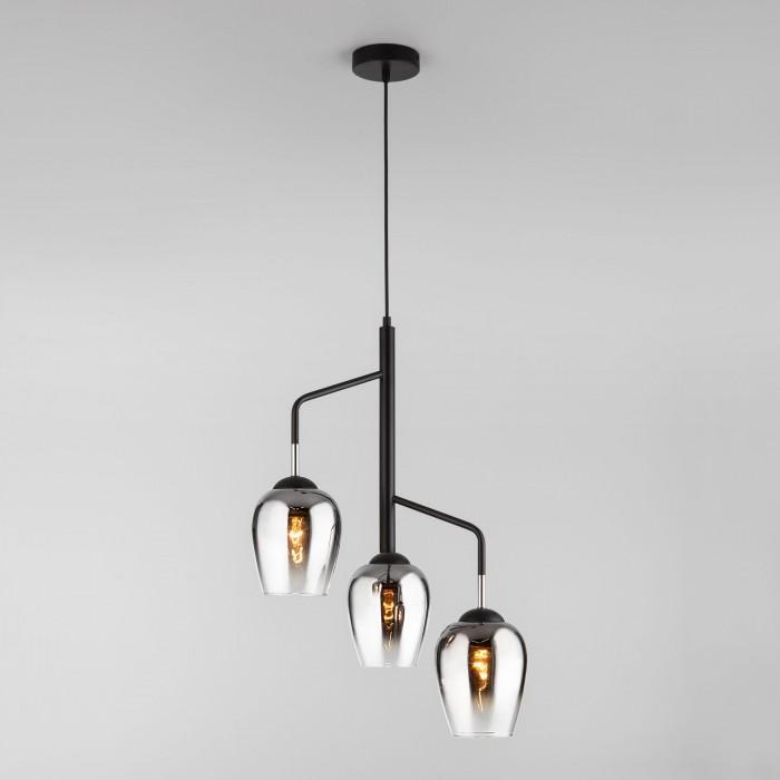 2Подвесной светильник со стеклянными плафонами 50086/3 хром Eurosvet