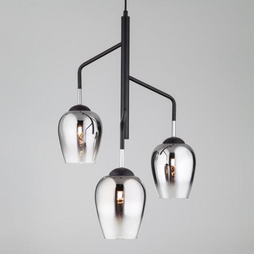 50086/3 хром Подвесной светильник со стеклянными плафонами