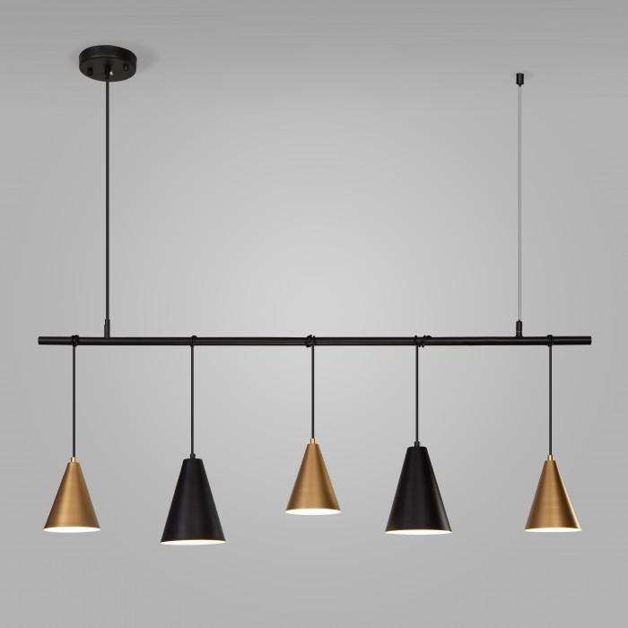 1Подвесной светильник 50088/5 черный/золото Eurosvet