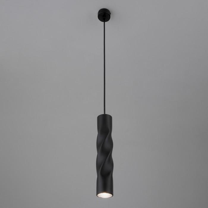 1Подвесной одиночный светильник 50136/1 черный Евросвет