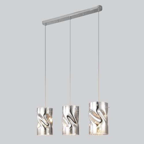 50184/3 хром Подвесной светильник со стеклянными плафонами Евросвет