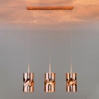 50184/3 медь Подвесной светильник со стеклянными плафонами Евросвет