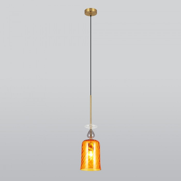 2Подвесной светильник 50194/1 янтарный Eurosvet