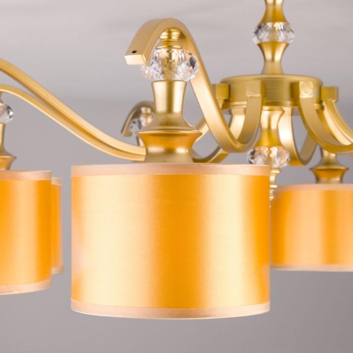 2Потолочная люстра с золотистыми абажурами Eurosvet 60070/8 перламутровое золото