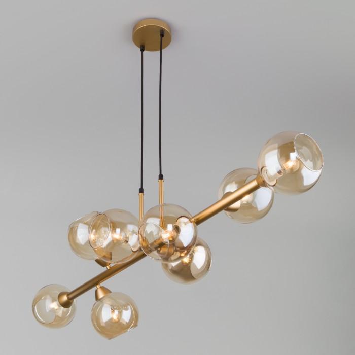 2Подвесной светильник с круглыми стеклянными плафонами  Eurosvet 70113/8 янтарный