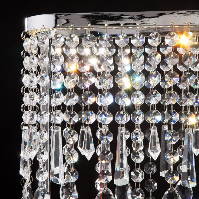 2Светодиодная настольная лампа с хрусталем Eurosvet 80413/1