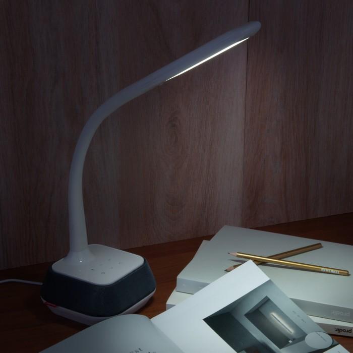 2Светодиодная настольная лампа с динамиком Eurosvet 80417/1 белый