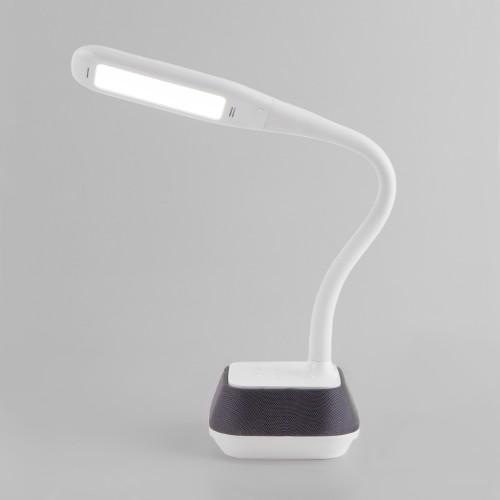 80417/1 белый EUROSVET Светодиодная настольная лампа с динамиком