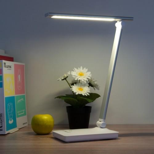 80423/1 серебристый EUROSVET Светодиодная настольная лампа с сенсорным управлением