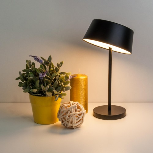 80424/1 черный EUROSVET Светодиодная настольная лампа