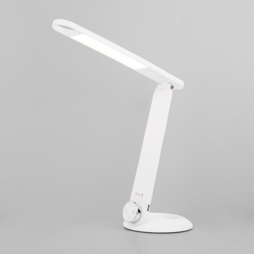 80428/1 белый EUROSVET Светодиодная настольная лампа с беспроводной зарядкой