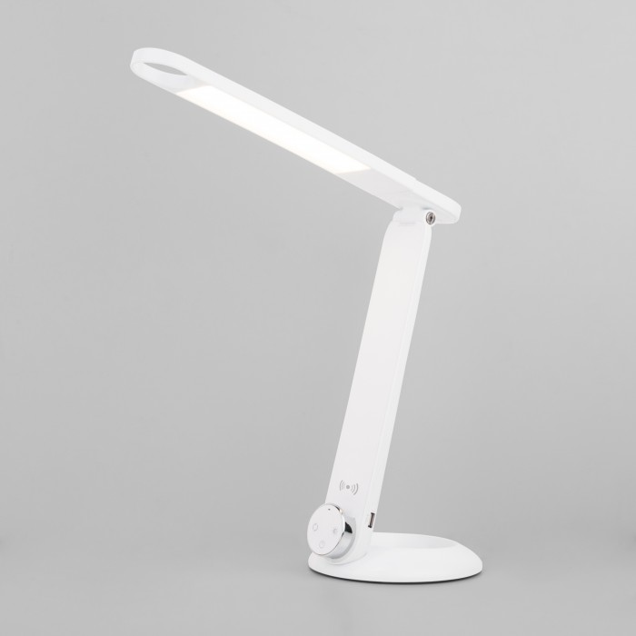 1Светодиодная настольная лампа с беспроводной зарядкой Eurosvet 80428/1 белая