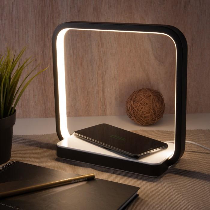 1Светодиодная настольная лампа с беспроводной зарядкой QI Eurosvet 80502/1