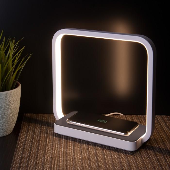 1Светодиодная настольная лампа беспроводная QI Eurosvet 80502/1