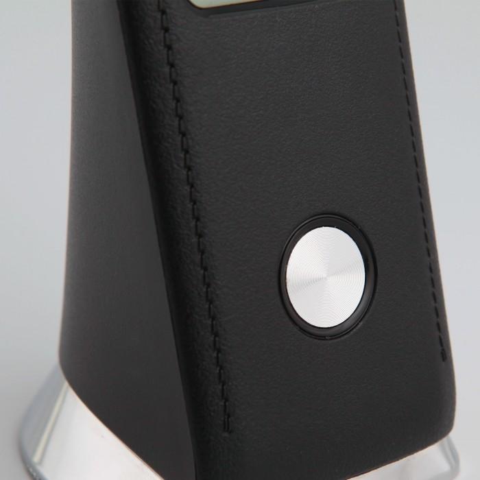 2Черная светодиодная настольная лампа с аккумулятором Eurosvet гибкая 80504/1