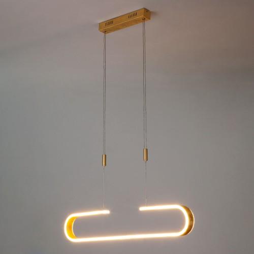 90072/1 золотой EUROSVET Светодиодный подвесной светильник