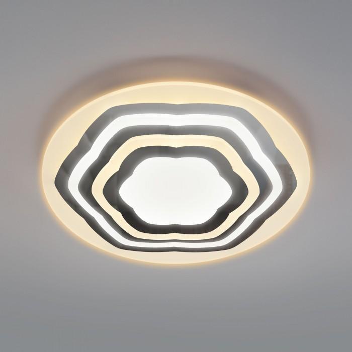 1Светодиодная люстра с пультом управления Eurosvet 90117/4 хром