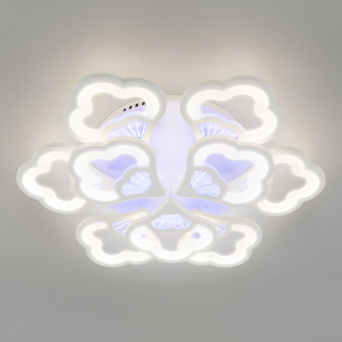 2Светодиодная люстра с пультом управления Eurosvet 90141/9 белый