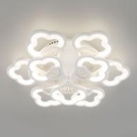90141/9 белый EUROSVET Потолочный светодиодный светильник с пультом управления