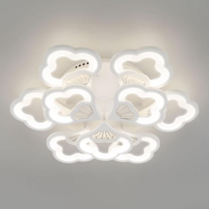 1Светодиодная люстра с пультом управления Eurosvet 90141/9 белый