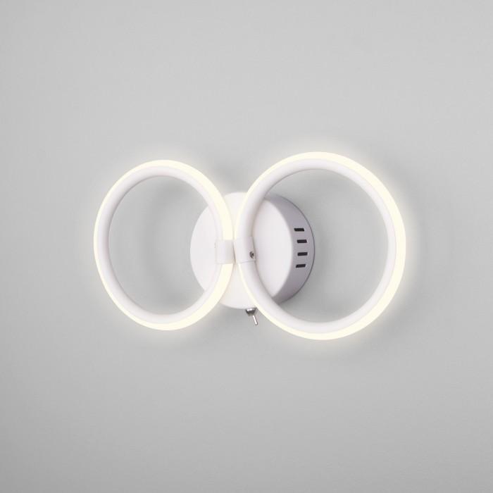 2Настенный светодиодный светильник с выключателем Eurosvet 90146/2 белый