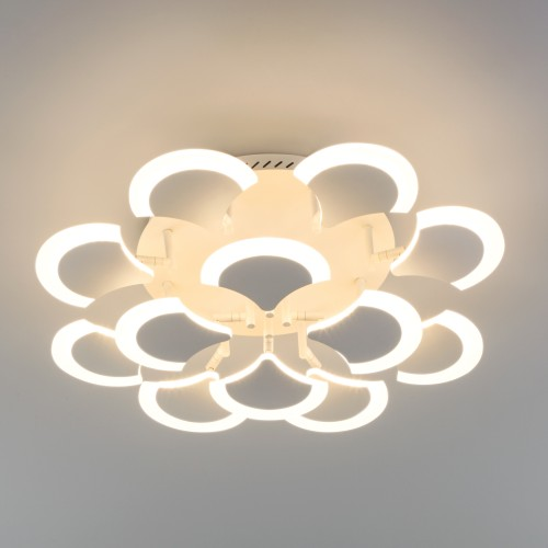 90159/12 белый EUROSVET Потолочный светодиодный светильник с пультом управления
