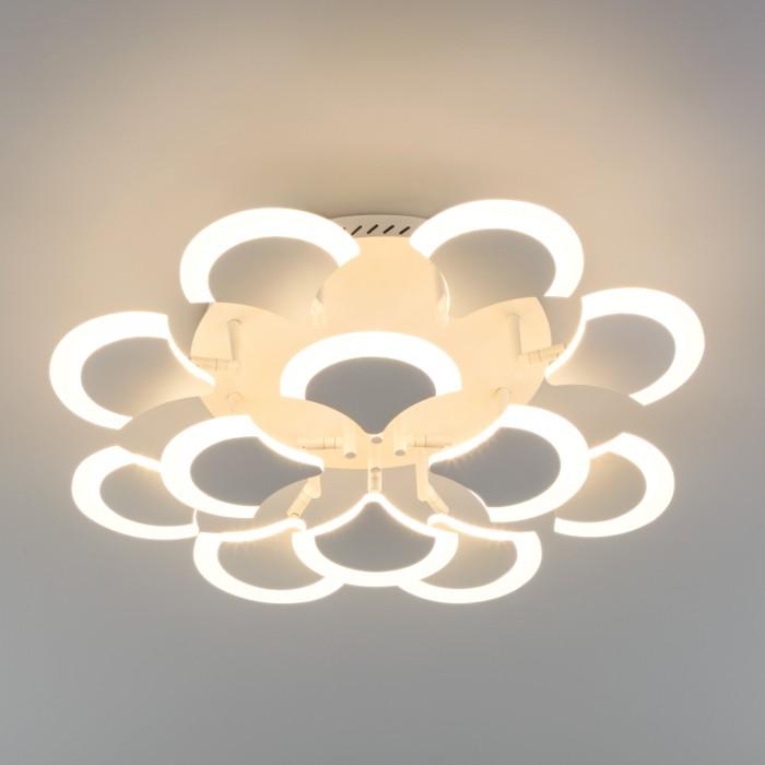 1Светодиодная люстра с пультом управления Eurosvet 90159/12 белый