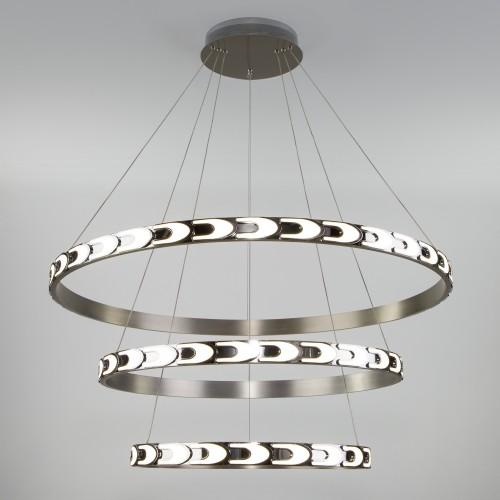 90163/3 сатин-никель EUROSVET Дизайнерский светодиодный светильник с пультом управления