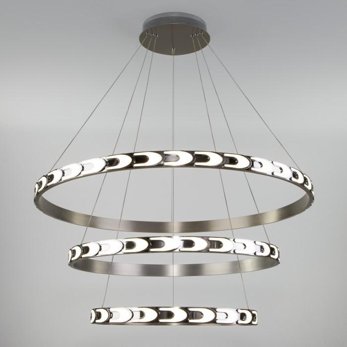 1Дизайнерский светодиодный светильник с пультом управления  Eurosvet 90163/3 сатин-никель