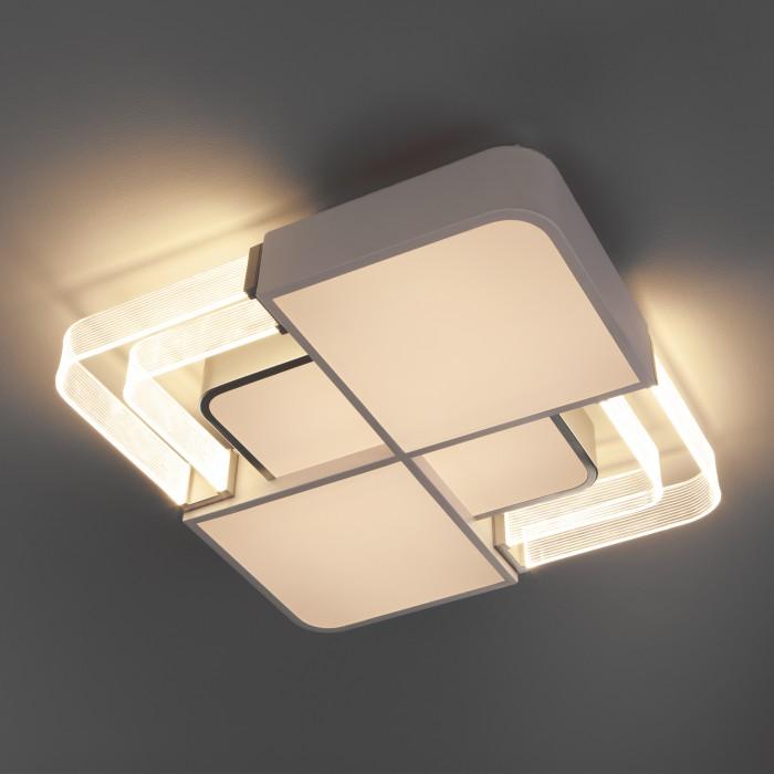 2Светодиодная люстра с пультом управления Eurosvet 90182/1 белый/серебро