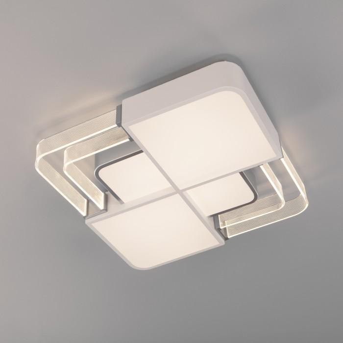 1Светодиодная люстра с пультом управления Eurosvet 90182/1 белый/серебро