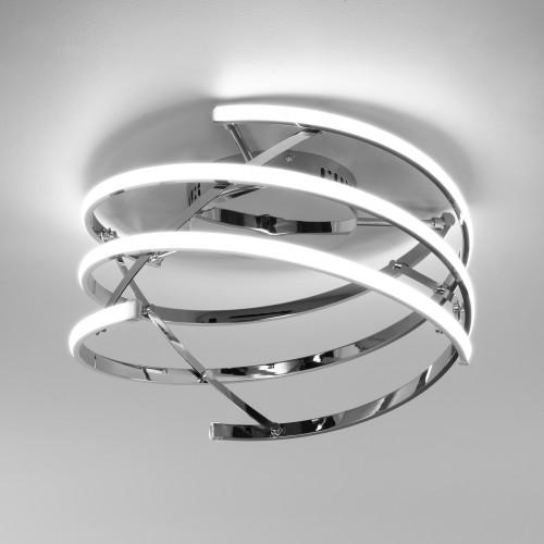 90229/3 хром Потолочный светодиодный светильник с пультом управления Евросвет