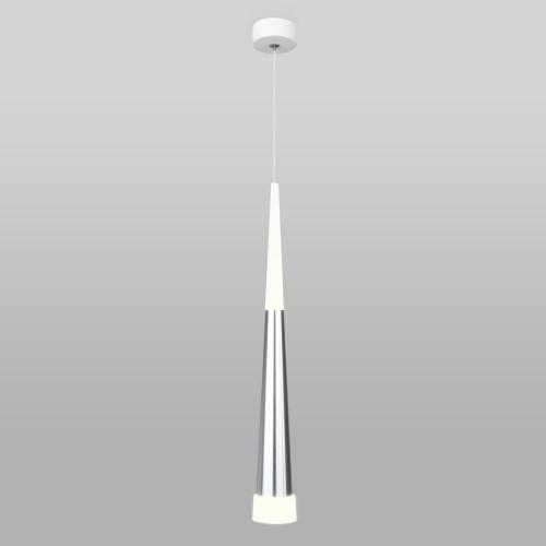 DLR038 7+1W 4200K хром Подвесной светодиодный светильник