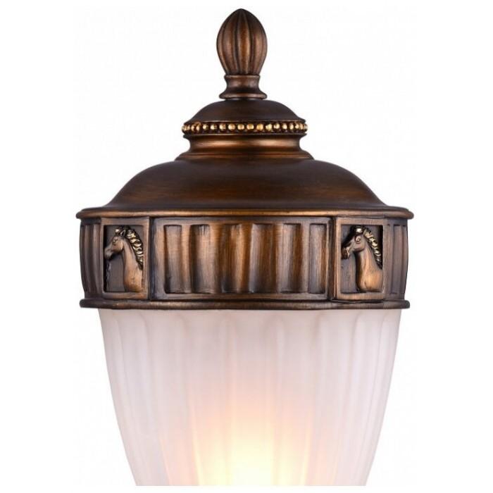 2Наземный уличный светильник со стеклянным плафоном 1335-1T Favourite