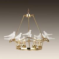 1750-6P Подвесная люстра с птичками Favourite