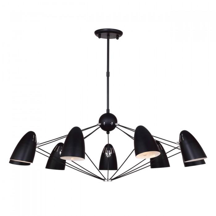 1Потолочная люстра в стиле техно 1757-9P Favourite черного цвета