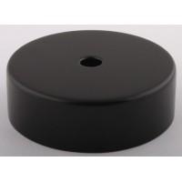 Основание подвеса, 1 отверстие, цвет черный, d=80мм