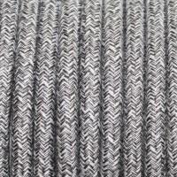 Провод декоративный круглый светло-серый 2*0,5